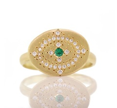 Adel Chefridi - Emerald Heaven on Earth Ring woodstock ny