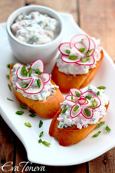 Dip with radishes