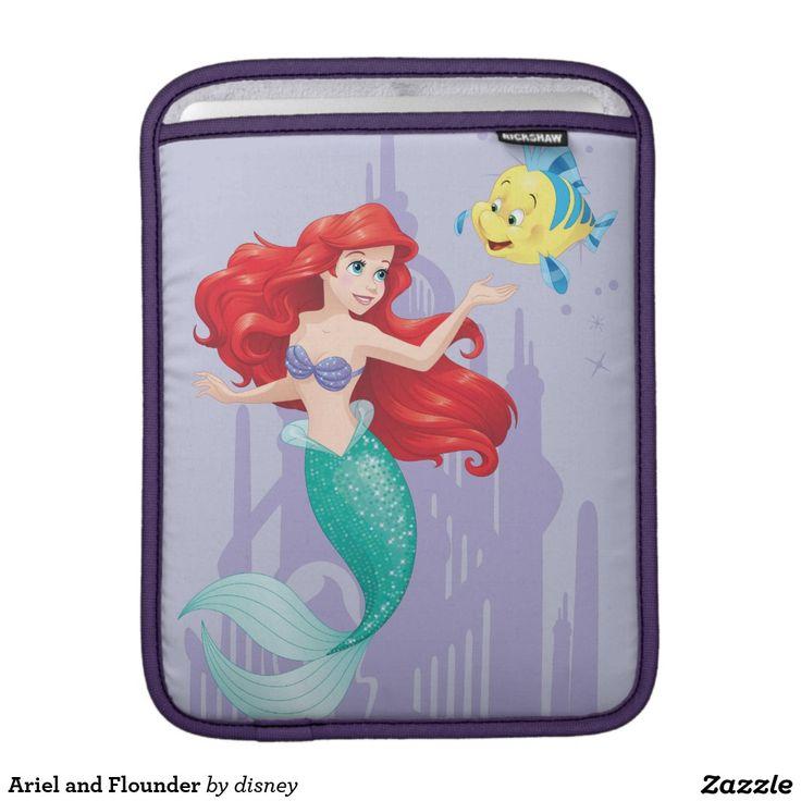 Ariel and Flounder Sleeve For iPads #funda #sleeve