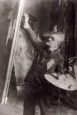Giovanni Boldini -painting at this angle is why his pictures feel like you are falling into them?
