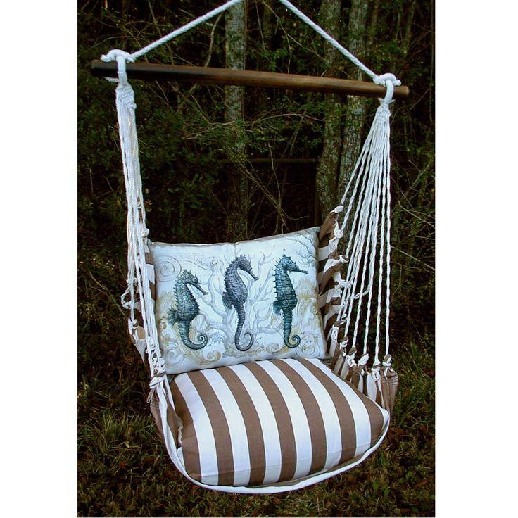 Sea Horse Striped Hammock Chair Swing