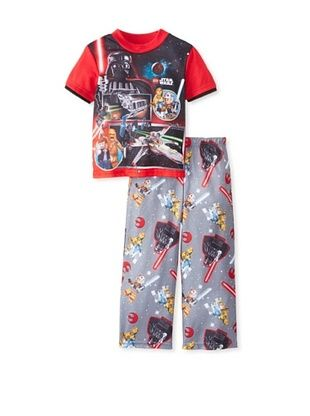 56% OFF Kid's Starwars 2-Piece Pajama Set 2-Pack (Red)