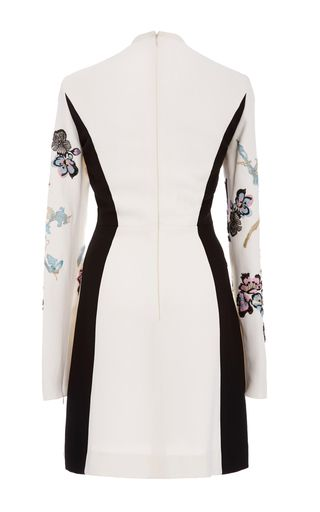 Long Sleeve Embroidered Mini Dress by ELIE SAAB for Preorder on Moda Operandi