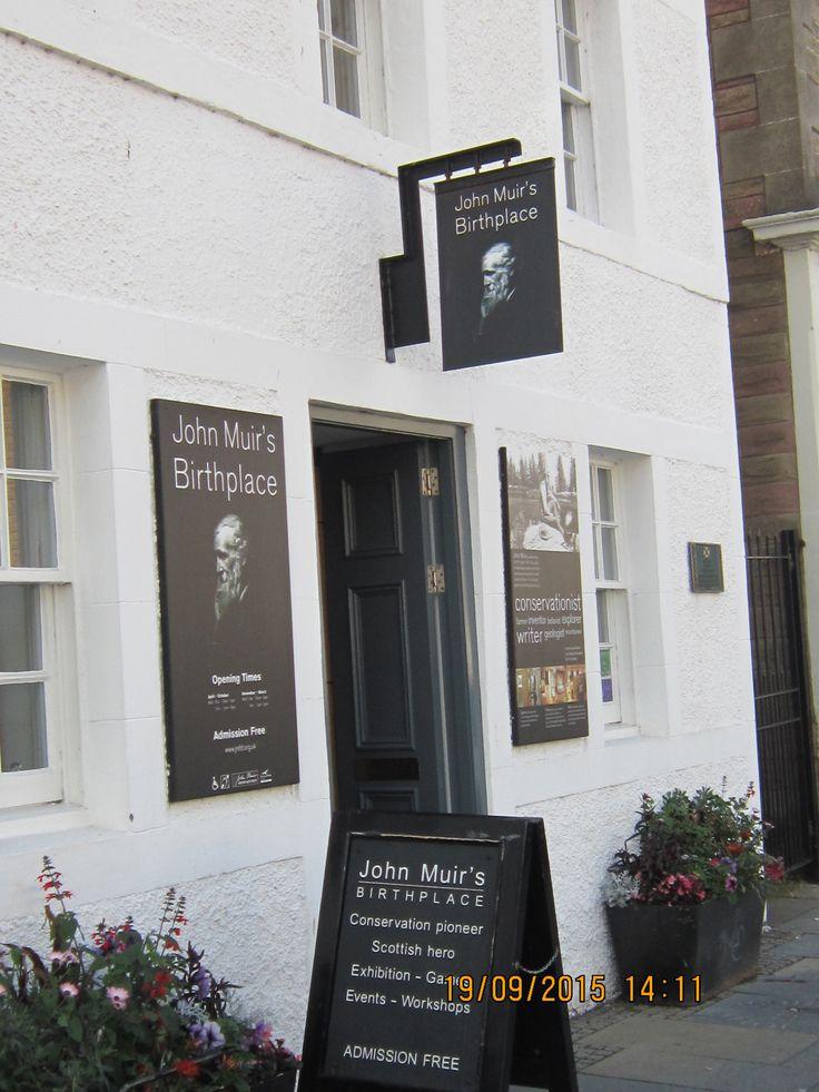 John Muir's birthplace, Dunbar, East Lothian