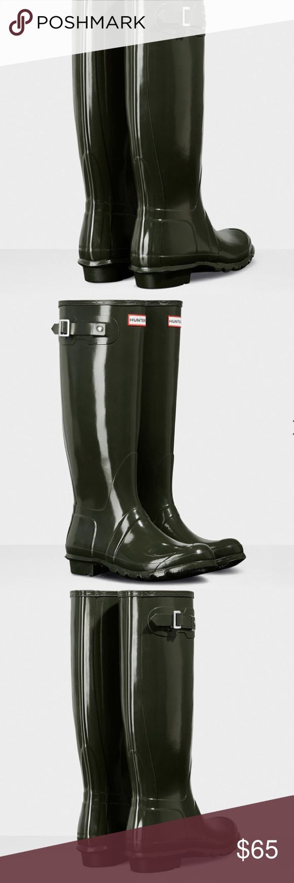 Hunter Boots size 6,7,8 On sale now. $65. Rubber soles. They are new with tags. Hunter Shoes Winter & Rain Boots