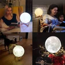 Moon Lamp 2 Color In 2020 Night Light Home Decor Christmas Gifts 3d Photo