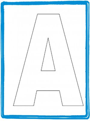 alphabet letter a template for kids preschool pinterest alphabet preschool letters and preschool