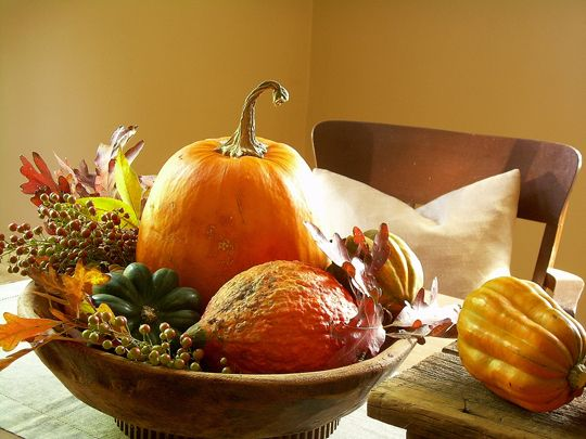 Fall Buffet Decorating And Buffet Serving Table Look