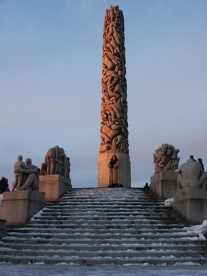 Oslo Norway Frogner Park.  Amazing sculpture.