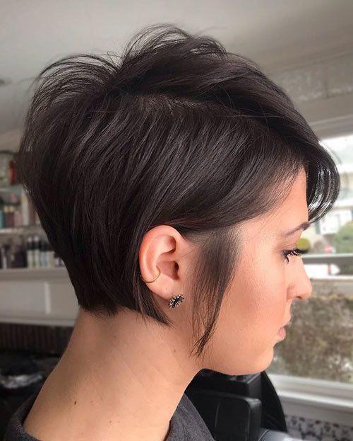 Melhores idéias de corte Pixie em camadas curtas 2019   – short hair ideas