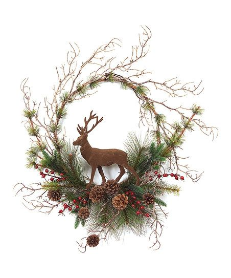 Green & Brown Wreath #country #Christmas