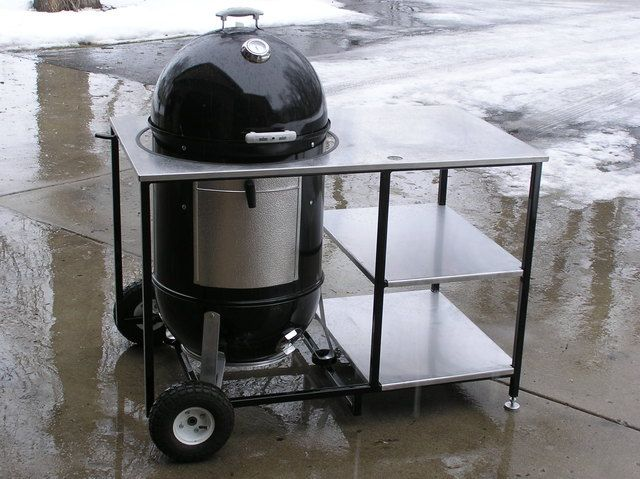 stainless steel wsm cart grilling and smoking pinterest stainless steel steel and weber. Black Bedroom Furniture Sets. Home Design Ideas