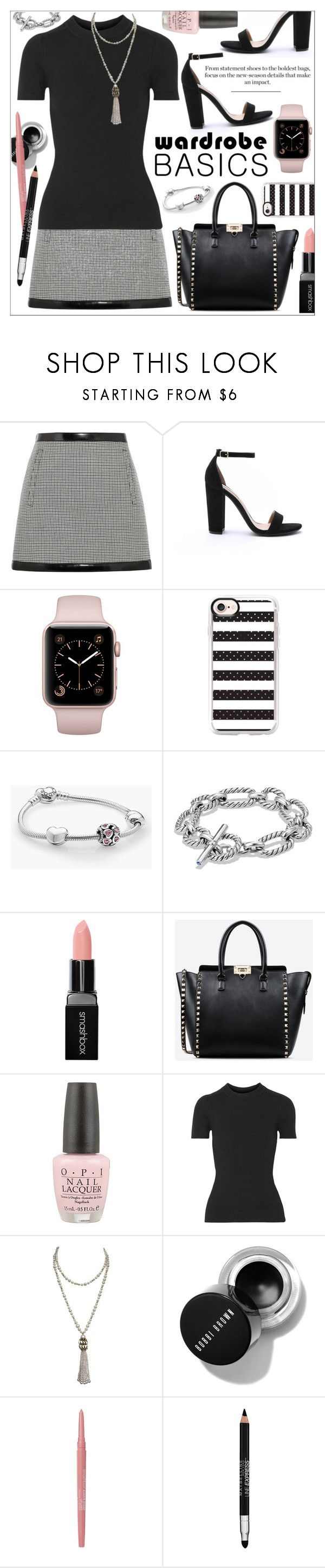 """Tried and True  Wardrobe Staples"" by calamity-jane-always ❤ liked on Polyvore featuring Philosophy di Lorenzo Serafini, Steve Madden, Casetify, Pandora, David Yurman, Smashbox, Valentino, JoosTricot, Marina J. and Maybelline"