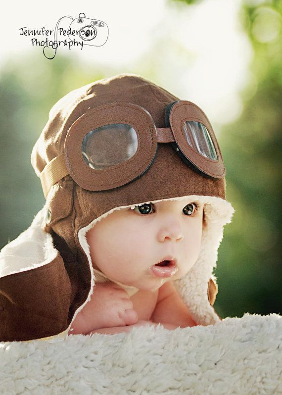 Baby Boy Toddler Aviator Hat UP movie prop pilot by callyfindlay, $29.00