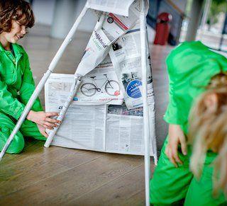 Bouw een tipi van de krant - Ontdek jouw wereld - Science Center NEMO