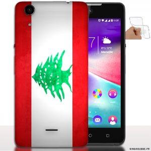 Etui pour telephone wiko Rainbow Lite Drapeau du Monde Liban / Coque Silicone. #Wiko #Rainbow #Liban #Drapeau