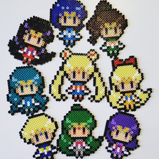 Sailor Moon perler beads by korincosplay