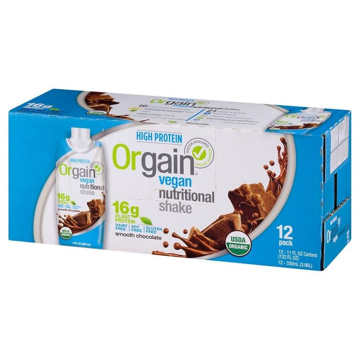 Orgain Vegan Smooth Chocolate Nutritional Shake - 12 Count