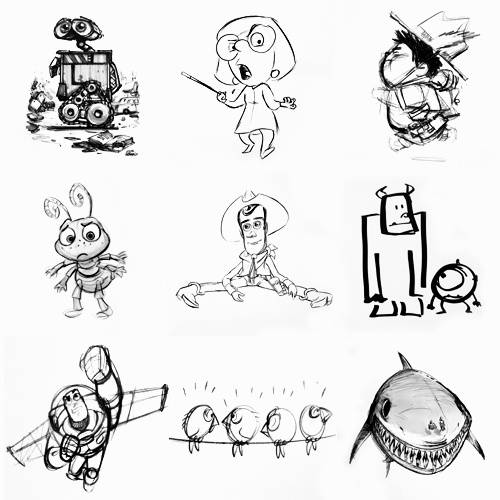 Pixar Character Design Book : Best characters images on pinterest character