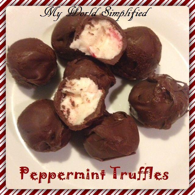 Peppermint Truffles | Recipe | Peppermint, Chocolate and Truffles