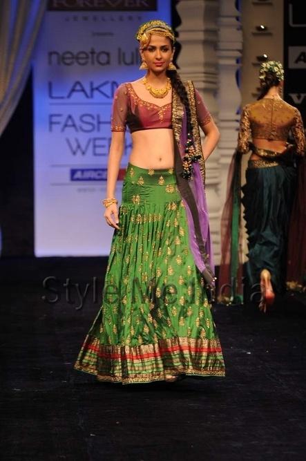 Neeta Lulla at Lakme Fashion Week Winter Festive 2012
