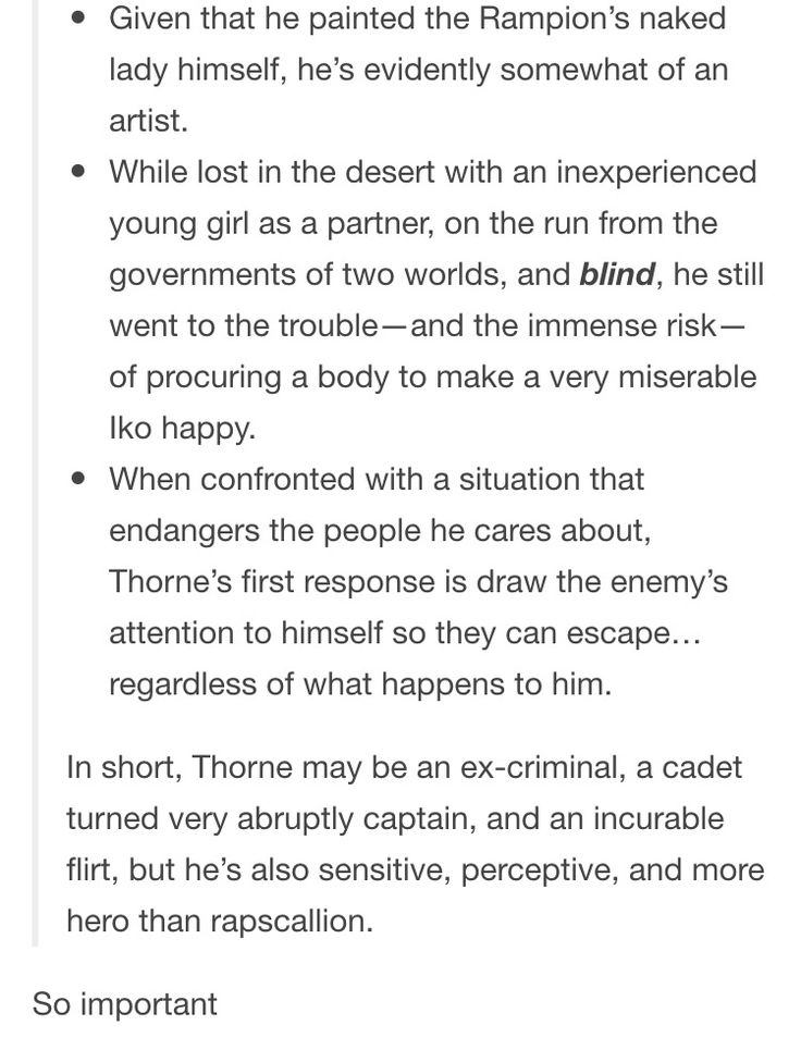 2/2 friendly reminders about Carswell Thorne via linhcindersidnumber tumblr