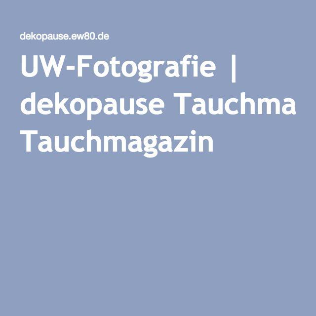 UW-Fotografie | dekopause Tauchmagazin