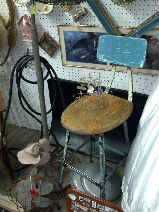 Repurposed Toilet seat lid industrial stool