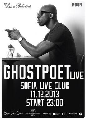 Брит-хоп сензацията GHOSTPOET с концерт на 11 декември в София