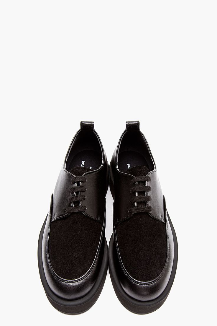 COMME DES GARÇONS HOMME PLUS Black Leather Flatform Creepers