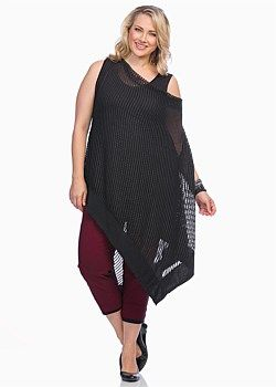 #TS Crazy For You Poncho #plussize #curvy #takingshape