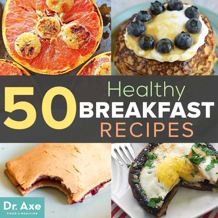 50 Healthy Breakfast Recipes http://www.draxe.com #health #holistic #natural