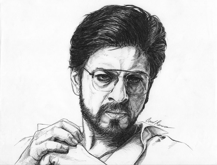 Ink-pen drawing by Carol Reeves. #Raees