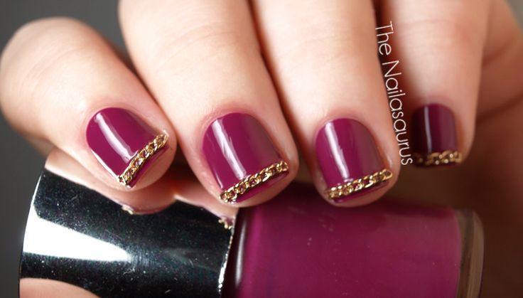 Chain-nail: Chains Accent, Gold Chains, Chains Manicures, Barbie Nails, Biker Nails, Nails Nails Nails, Chains Nails, Nails Polish, Hair Nails