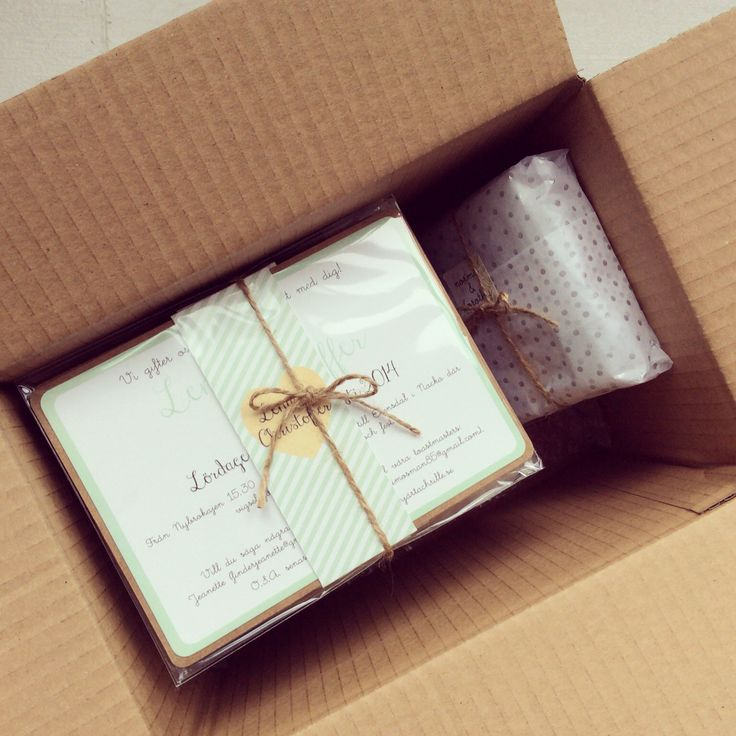 wedding invitations east london south africa%0A Wedding invitation  all packed up and ready to go