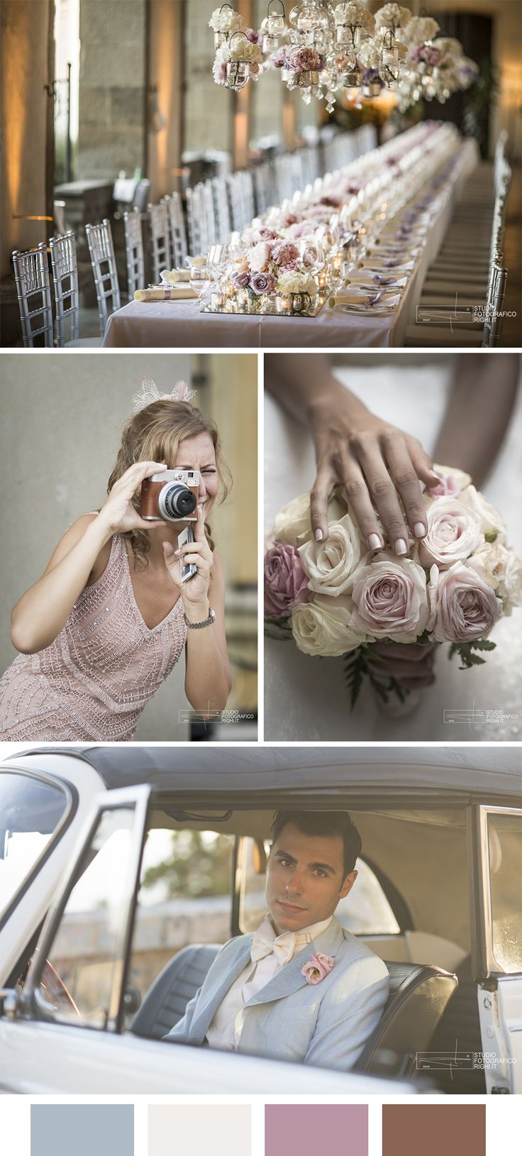 4 Pastel color combination for your wedding day! | Photos by Studio Fotografico Righi | http://www.studiofotograficorighi.it/
