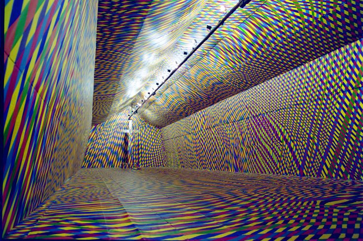The Temple of colours installation by Vassiliki. 2000m2 designed and painted by hand.