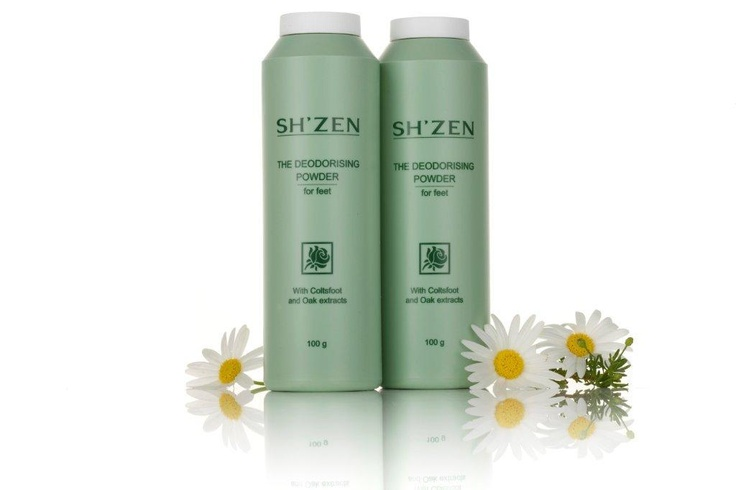 Dust feet and the inside of your shoes with this therapeutic foot powder to keep them dry and comfortable! http://www.shzen.co.za/feet_deodorising.php