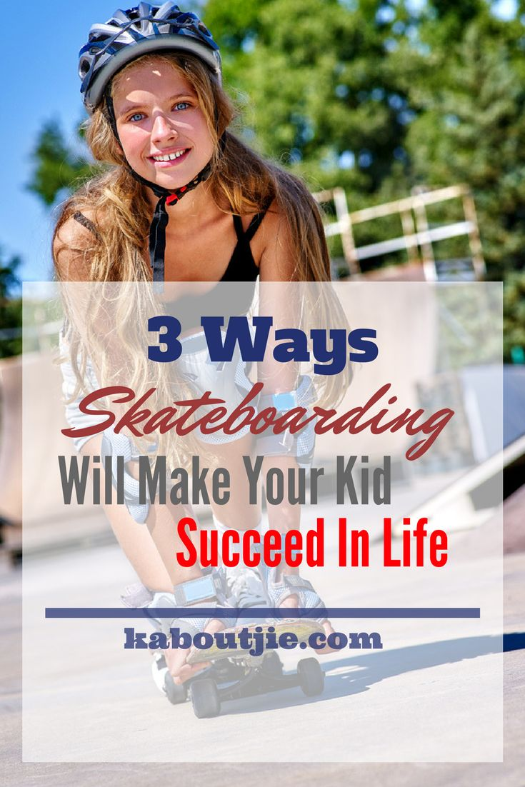 3 Ways Skateboarding Will Make Your Kid Succeed in Life  Skateboarding is a great sport for kids to take part in. It is fun, it builds self-confidence and it gives your child a way to bond with other children. Here are 3 ways skateboarding will make your kid succeed in life that you should be aware of.    #guestpost #skateboarding