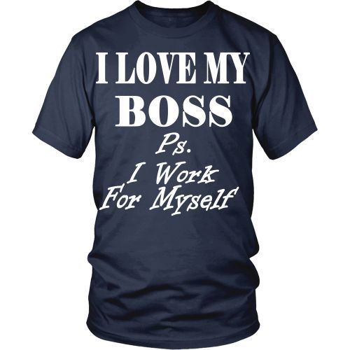 Be proud Entrepreneur and show it with I love my Boss. Check more Entrepreneur t-shirts. If you want different color, style or have idea for design contact us we can help you! support@teelime.com #followback #entrepreneur #startup