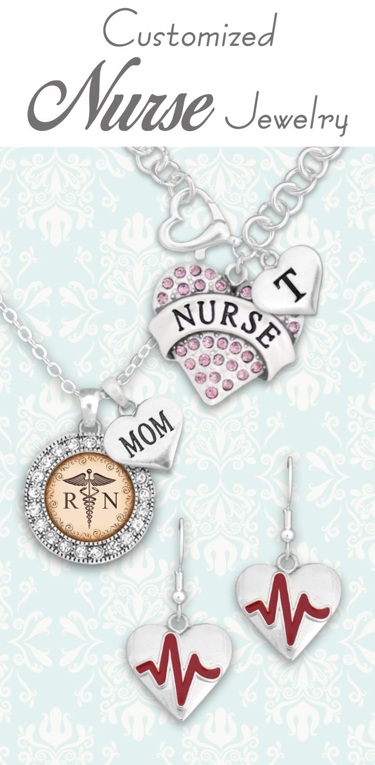 Customized Nurse Jewelry, $9.98! // Great gifts for graduation, birthdays, or just to say thanks!