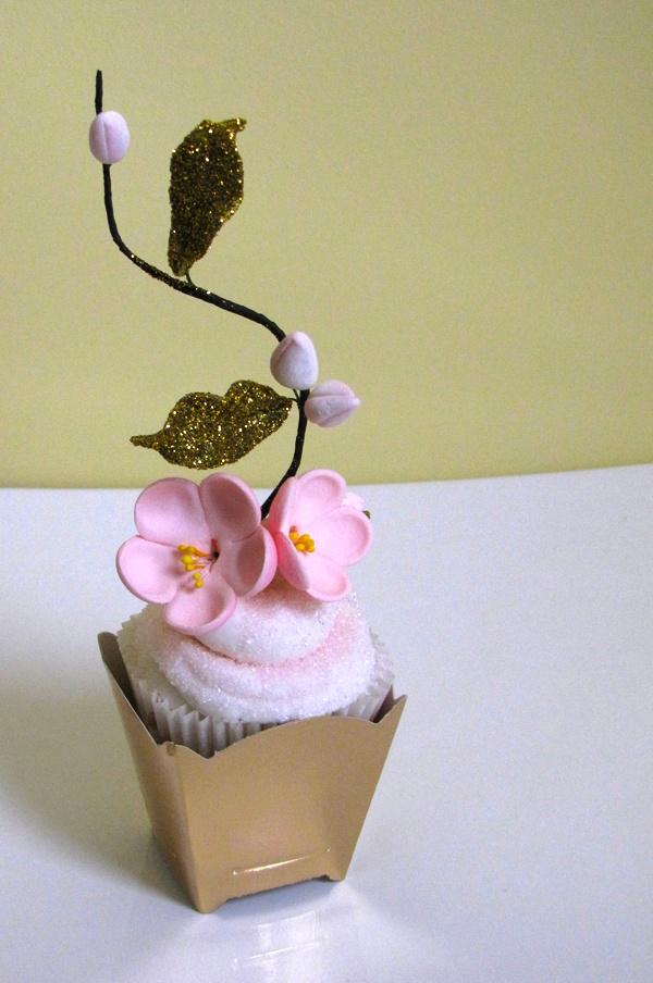 Cherry Blossom Cupcake | Connie Cupcake