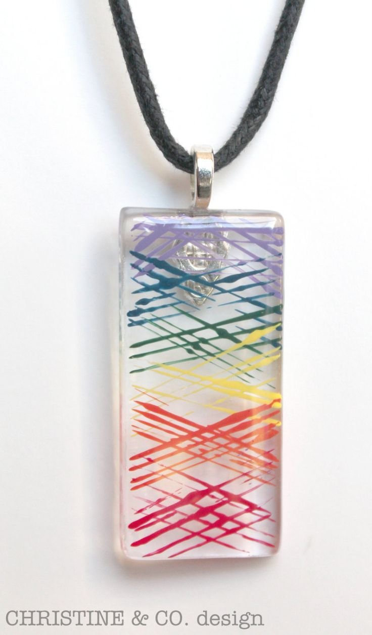 146 best fused glass jewellery images on pinterest fused glass painted rainbow glass statement pendant by christineandcodesign 2800 mozeypictures Choice Image