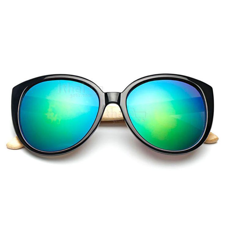 UV400 Korumalı, Gerçek Ahşap Güneş Gözlükleri - IGD090613433 - Vintage Güneş Gözlükleri, Ayna Camlı Güneş Gözlükleri, Bambu Güneş Gözlükleri