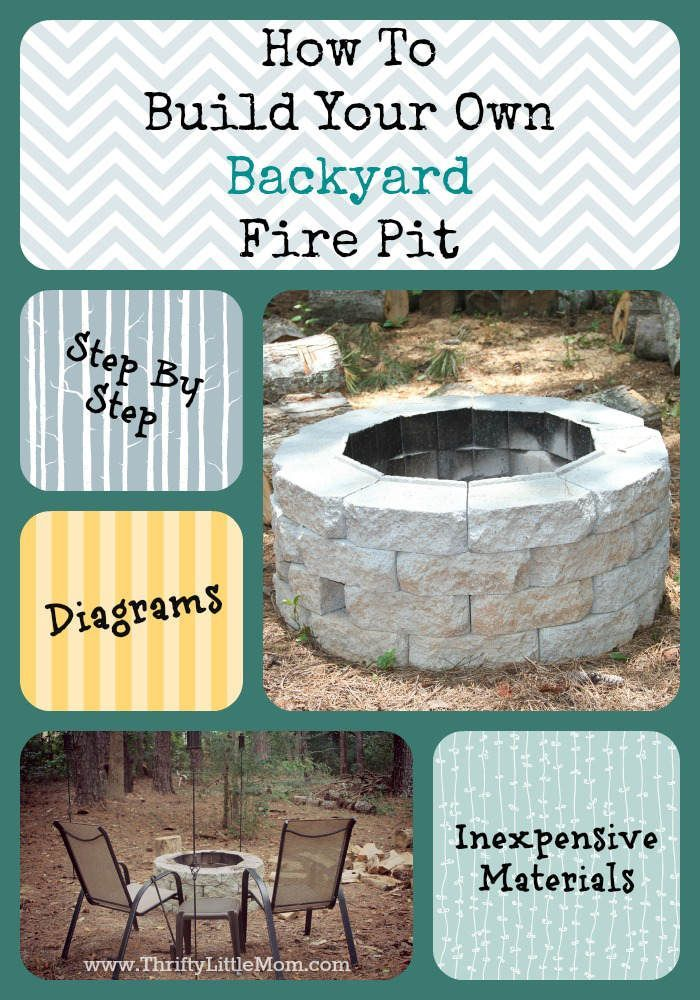 how to build an easy inexpensive backyard fire pit step by step
