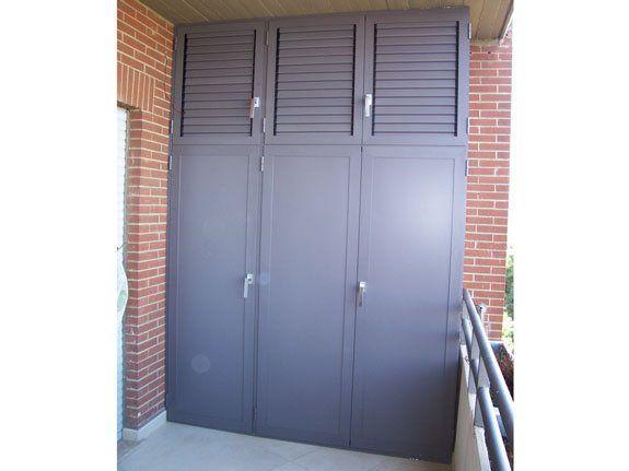 Realizziamo su misura armadi per esterni in alluminio ...