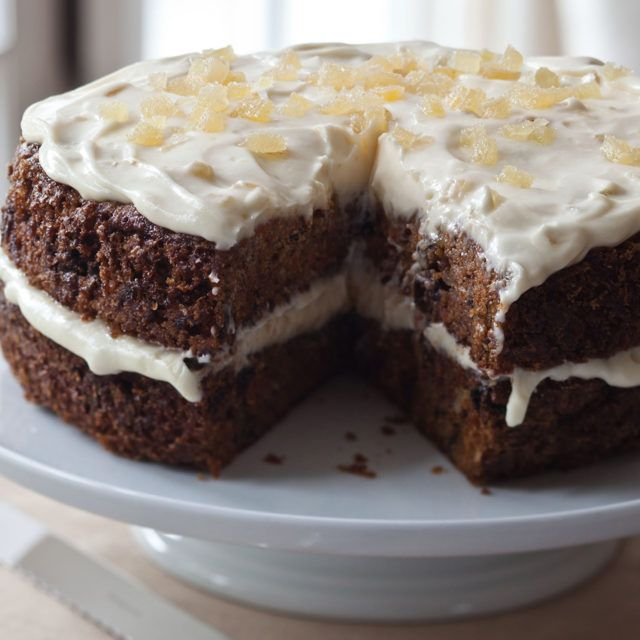 Carrot Cake with Ginger Mascarpone Frosting - Barefoot Contessa