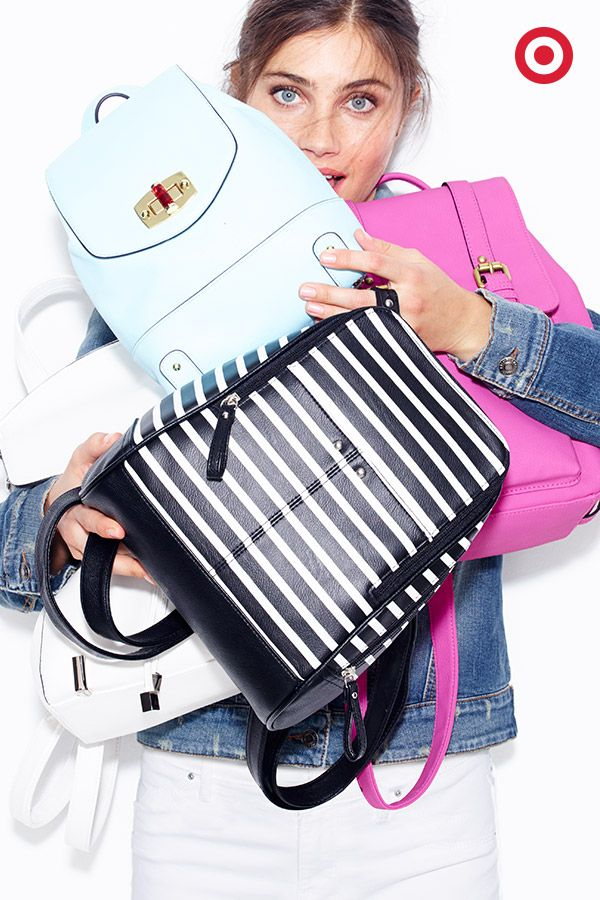 Sometimes all it takes is a new bag to make getting dressed a little more exciting. Adorable backpacks in solids and stripes? Don't mind if we do. Get a handbag from Target in a variety of chic colors for a look that matches your style.