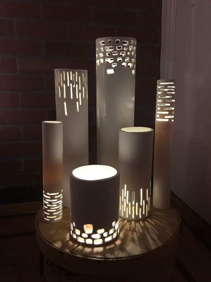 Turn PVC Pipes into Luminaries What if you put a plant in the top of one of these. Would have to be a pot in a pot in order to take it out and water. Interesting