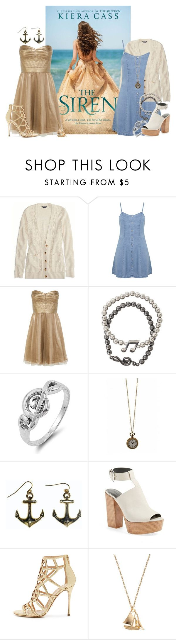 """The Siren // Kiera Cass"" by glitterbug152 ❤ liked on Polyvore featuring American Eagle Outfitters, Miss Selfridge, Coast, Rebecca Minkoff, Sergio Rossi, Alex Monroe, books, siren and allegrabounds"